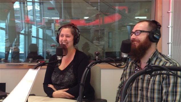Audrey Fortier et Cédric Bouillon en entrevue à l'émission Info-Réveil