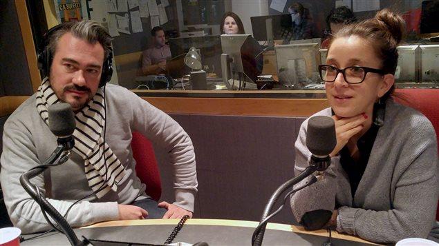 Le designer Zébulon Perron et la journaliste Marie-Claude Lortie