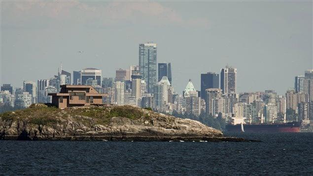 Une maison au large du centre-ville de Vancouver