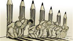 Une caricature du dessinateur de presse Chaunu, en réaction des attentats perpétrés contre Charlie Hebdo.