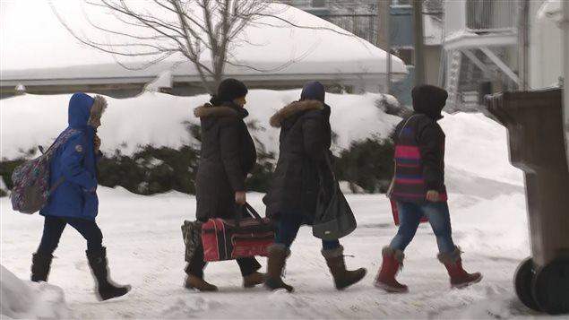 Les premiers réfugiés syriens arrivés à Drummondville. (archives)