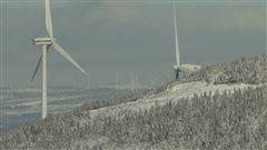 Éoliennes dans les montagnes gaspésiennes