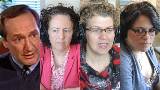 Adrien Mazerolle, Johanne Perron, Suzanne Dupuis-Blanchard et Johanne Richard