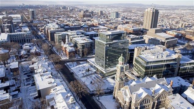 La ville de Québec, quartier Montcalm