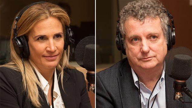 La productrice Sophie Ferron et le professeur associé de HEC Montréal Sylvain Lafrance
