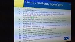 Les participants à la rencontre de consultation du CEF ont identifié 13 défis.