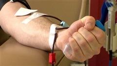 Don de sang.