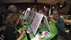 La soirée peinture du BDT affichait complète.