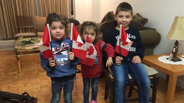 Les enfants de la famille syrienne Baghjajian