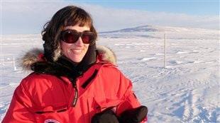 RCI's Eillis Quinn during documentary making in Clyde River Nunavut.