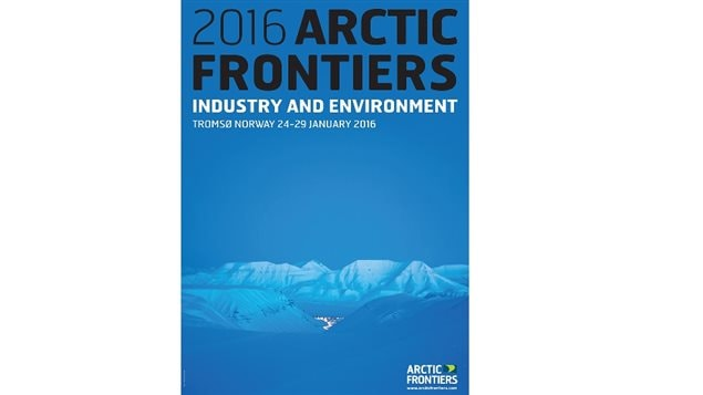 Poster-coverpage for this year's international conference on Arctic issues