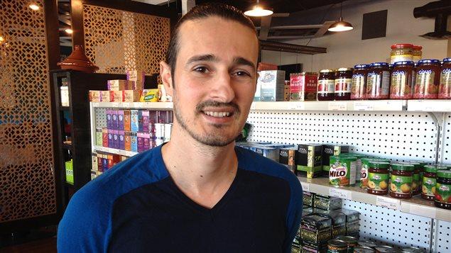 Mohamed Ali M'Halla propriétaire du Blue Olive à Dieppe