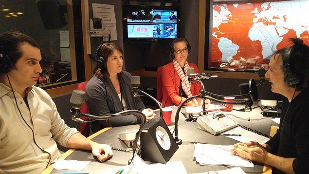 Étienne Huot de La Récolte Espace Local, Julie Bourbonnière de Moisson Montréal et Catherine Boyer de Bonne Boîte Bonne Bouffe