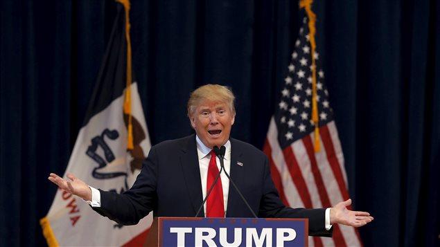 Donald Trump, le 23 janvier, en campagne.