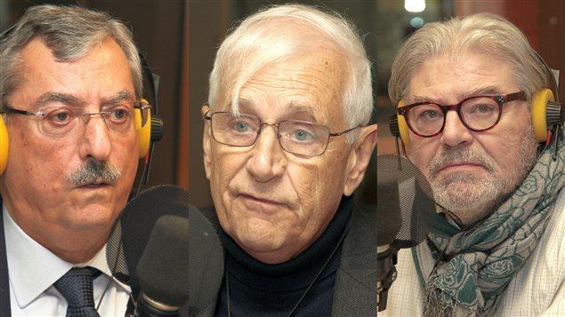 Trois grands sp�cialistes de g�opolitique internationale pour discuter des conflits au Moyen-Orient : Sami Aoun, Jacques L�vesque et Donald Cuccioletta