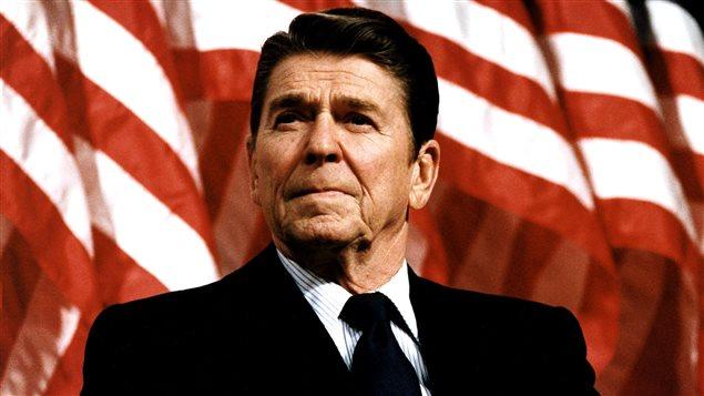 Le président américain Ronald Reagan en 1982