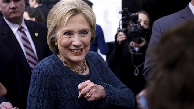 Hillary Clinton en campagne à Cedar Falls, en Iowa.