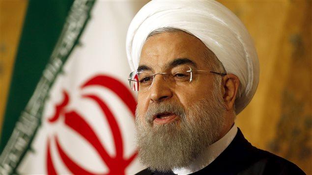 Le président Hassan Rohani a répondu aux questions des journalistes lors d'une conférence de presse, à Rome, au terme d'une visite de trois jours en Italie.