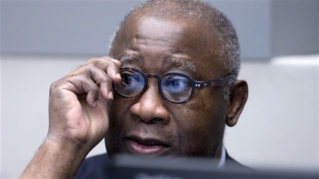 El ex-presidente de Costa de Marfil, Laurent Gbagbo al comienzo de su proceso en La Haya por crímenes de lesa humanidad.