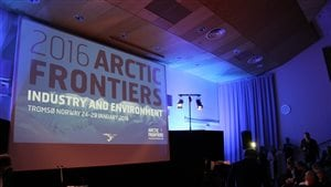 The Arctic Frontiers logo was everywhere in Tromso this week for the international gathering.