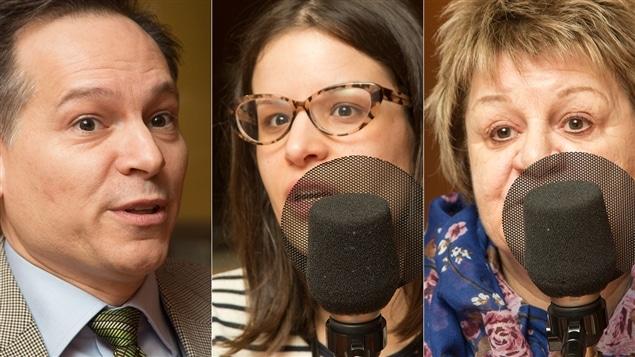 André Joncas, Carolane Stratis et Doris Provencher
