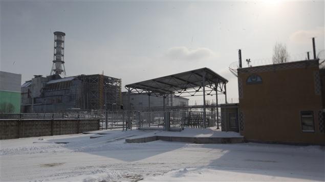 La centrale nucléaire de Tchernobyl, en URSS (aujourd'hui en Ukraine).