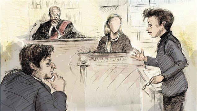 L'avocate de Jian Ghomeshi, Marie Henein, contre-interroge la première plaignante en cour.