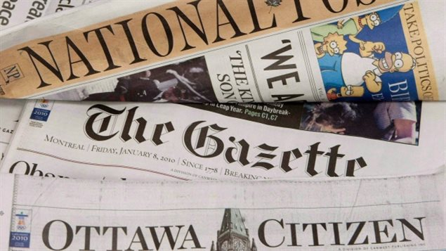 Canadian newpapers  have been hard hit by declining advertising revenues, as have other media.