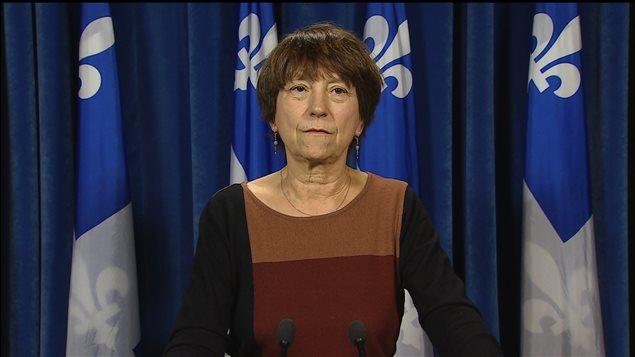 Françoise David, la cofondatrice et co-porte-parole de Québec solidaire