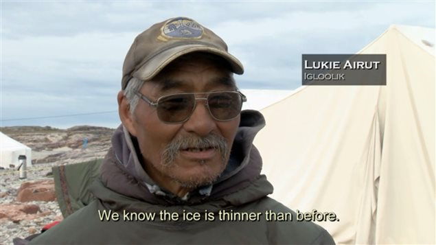 Scene from the feature ducumentary *Qapirangajuq: Inuit Knowledge and Climate Change* by Zacharias Kunuk and Ian Mauro