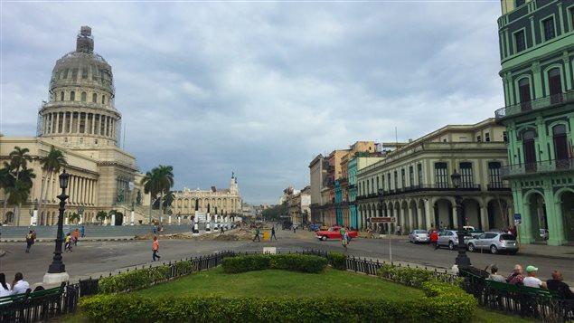 La rue Prado, au centre de La Havane