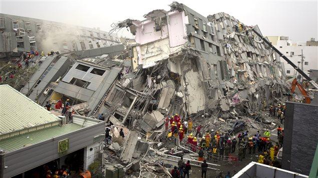 Une tour résidentielle de 17 étages de la ville de Tainan s'est effondrée le mois dernier lors d'un séisme d'une magnitude de 6,4 qui a frappé le sud de Taïwan.