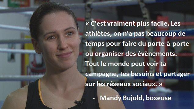 La boxeuse Mandy Bujold