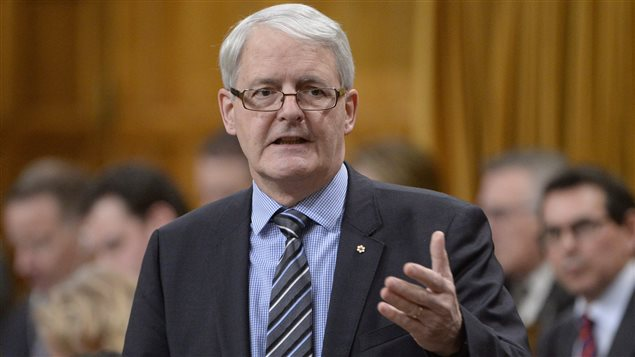 Transport Minister Marc Garneau answers a question during Question Period in the House of Commons on Parliament Hill in Ottawa, on Thursday, Feb.4, 2016.