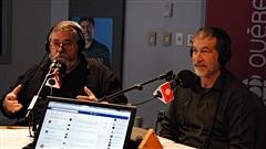Julien Cabana, chroniqueur de chasse et pêche au Journal de Québec et amateur de motoneige, et Paul Boisvert,  kinésiologue et skieur.