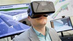 Réalité virtuelle pour nagivuer dans les plans du futur Aéroport Jean-Lesage