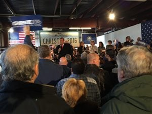 Des partisans de Chris Christie au New Hampshire.