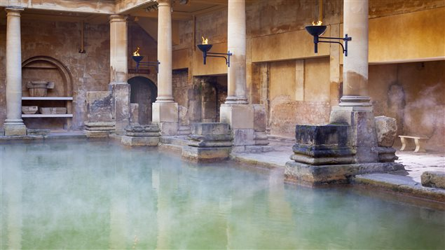 Bain romain � Bath, en Angleterre