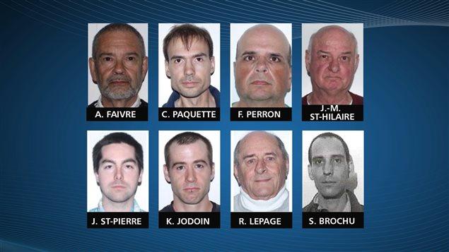 Huit accusés se sont présentés en cour pour présenter une demande de remise en liberté, mais l'un d'eux s'est désisté.