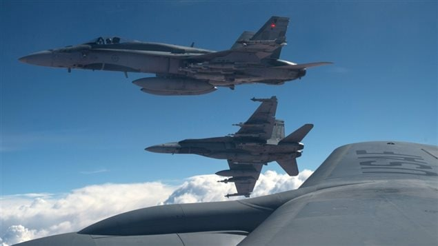 La flota de CF-18 de la aviación canadiense, basada en Cold Lake, Alberta.