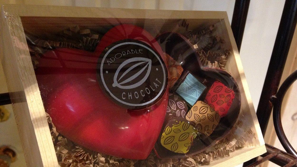 Une boîte cadeau pour la Saint-Valentin d'Adorable Chocolat