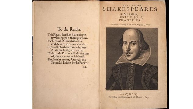 The star of the exhibition is of course the *First Folio* printed just a few years after Shakespeare's death 400 years ago in 1616.