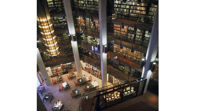 Another view of the Fisher Rare Books Library at the University of Toronto. Although literally thousands of rare books are on the shelves, it represents only about 15 percent of the total collections materials