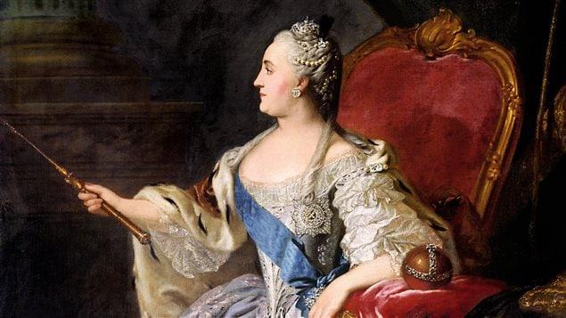 Portrait de Catherine II par Fiodor Rokotov (1763)