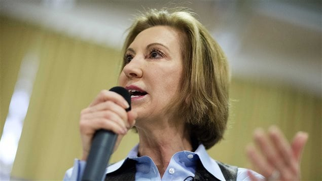 Carly Fiorina en campagne, le 10 février.