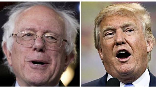 Le démocrate Bernie Sanders et le républicain Donald Trump