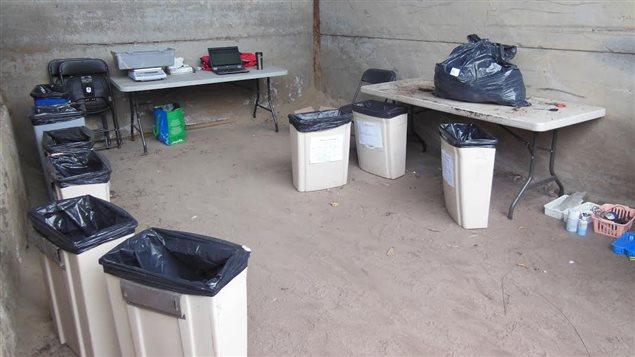Les déchets collectés ont été triés et pesés dans un site spécialement aménagé
