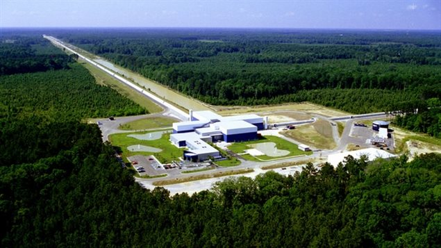 U.S.-based Laser Interferometer Gravitational-Wave Observatory (LIGO) has two detectors - one in Hanford, Washington, and the other in Livingston, Louisiana (above) and involves measuring 4 km long laser beans and a movement of a tiny fraction of the width of single proton.