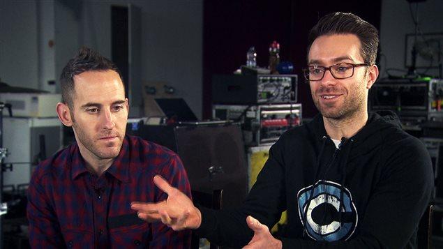 Chuck Comeau et Sébastien Lefebvre, de Simple Plan