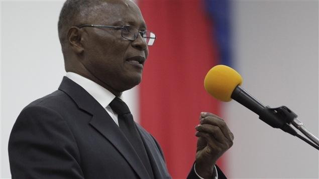 Jocelerme Privert, presidente interino de Haití.